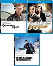 Special Spies 3 Bonds 007 James Collection Blu Ray Goldfinger Sean Connery + Quantum Solace Daniel Craig / On Her Majesties Secret Service 3 film Action Movie Set