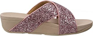 FITFLOP Lulu Glitter Slides, Women's Fashion Sandals