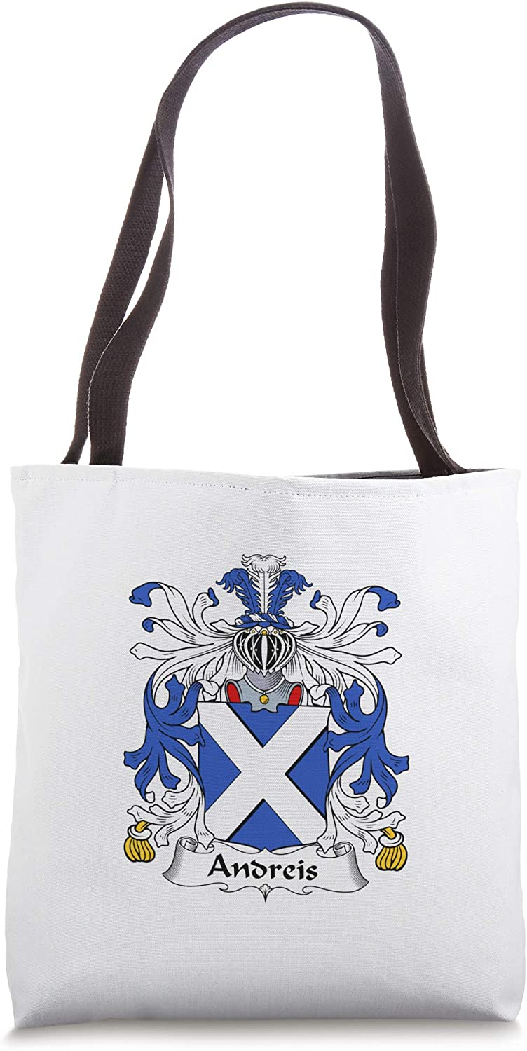 Andreis Coat of Arms - Family Crest Tote Bag