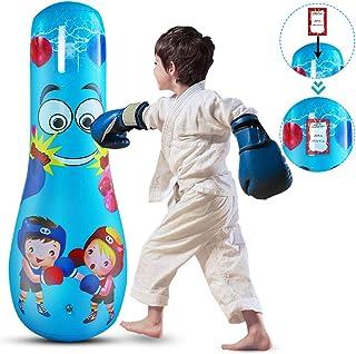 Tabpole Saco de Boxeo Inflable para Niños Saco de Boxeo Independiente para Aliviar El Estrés del Ejercicio Saco de Aire para Niños Y Niñas