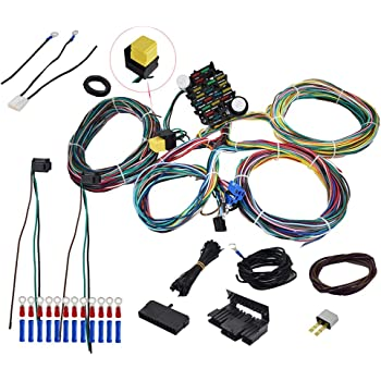 amazon.com: labwork 21 circuit wiring harness replacement for chevy ford  hotrods universal x-long wires: automotive  amazon.com