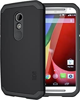 TUDIA Slim-Fit CYGEN Dual Layer Protective Case for Motorola Moto G (2nd Gen 2014 Released ONLY) (Matte Black)