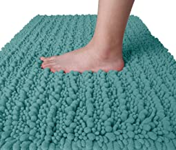 Yimobra Original Luxury Chenille Bath Mat, 24 x 17 Inches, Soft Shaggy and Comfortable, Large Size, Super Absorbent and Th...