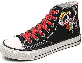 Anime One Piece Printed Sneakers Schuhe Frauen Männer Canvas Schuhe Cartoon Freizeitschuhe Jugendliche Student Jungen und ...