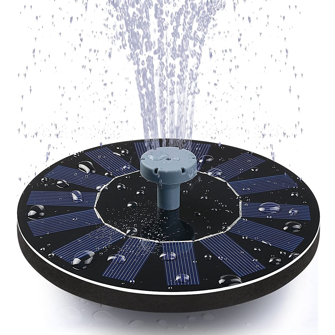 Tranmix Solar Bird Bath Fountain,Solar Powered Fountain for Garden and Patio,Pond, Pool