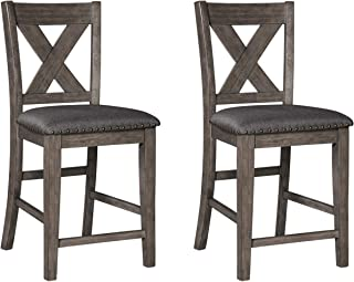 Signature Design by Ashley Caitbrook Upholstered Barstool, 2 count