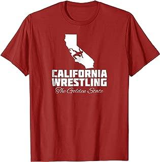 California Wrestling T-Shirt USA State Wrestling Shirt