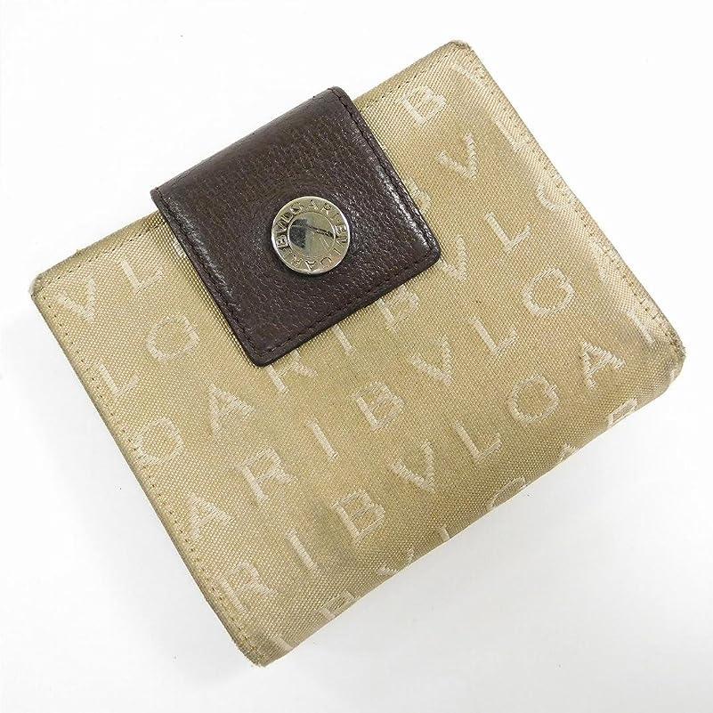 キッチン複雑ファッション[ブルガリ] BVLGARI 二つ折り財布 ロゴマニア キャンバス×レザー X15649 中古