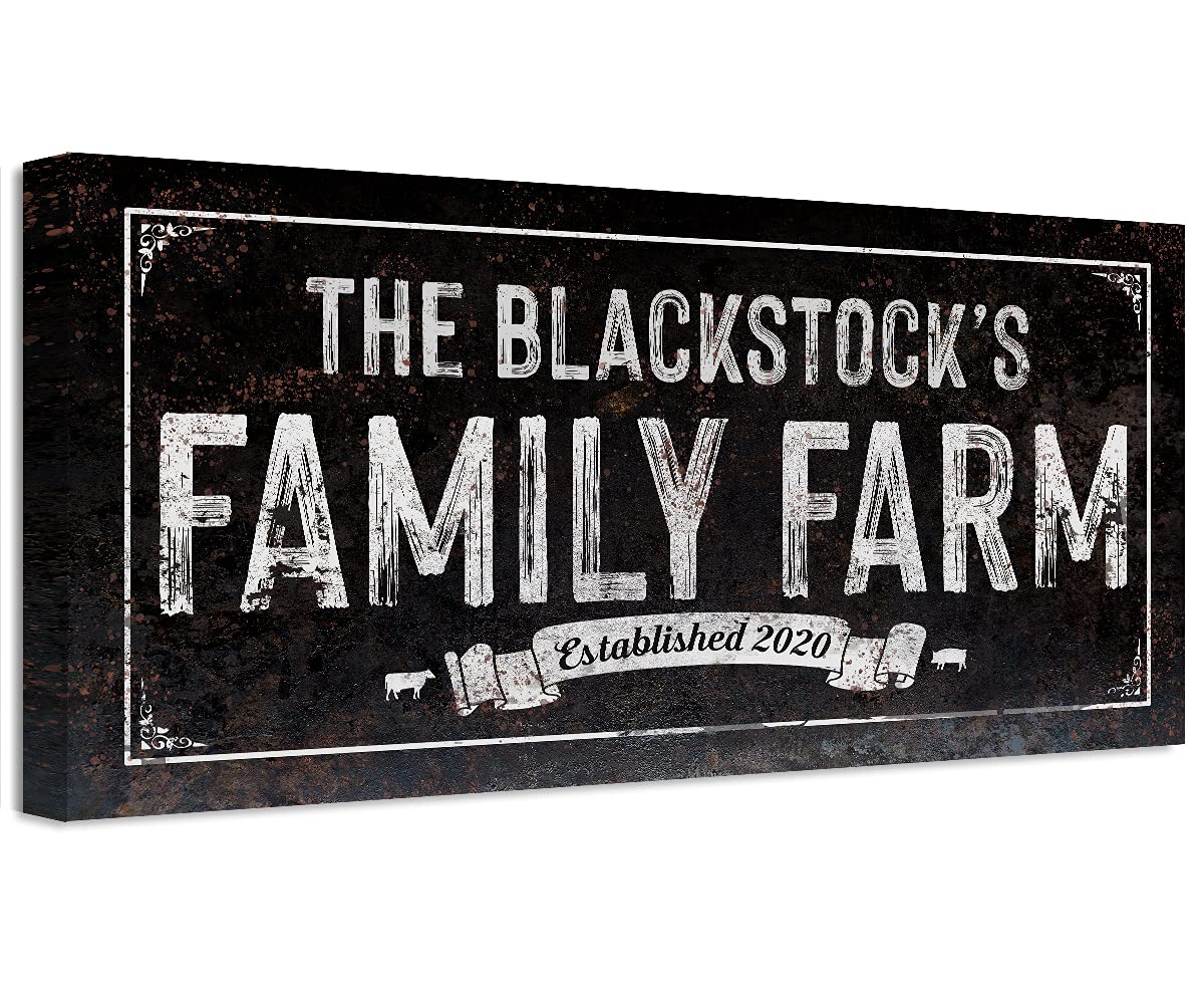 Personalized - Family Farm Unframed Popular standard Max 73% OFF Meta on Print Printed Not