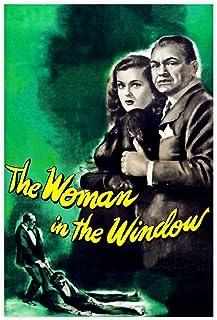 Kvinnan i fönstret retro klassisk film 1 canvas affisch sovrum dekor sport landskap kontor rum dekor gåva orama: 60 × 90 c...