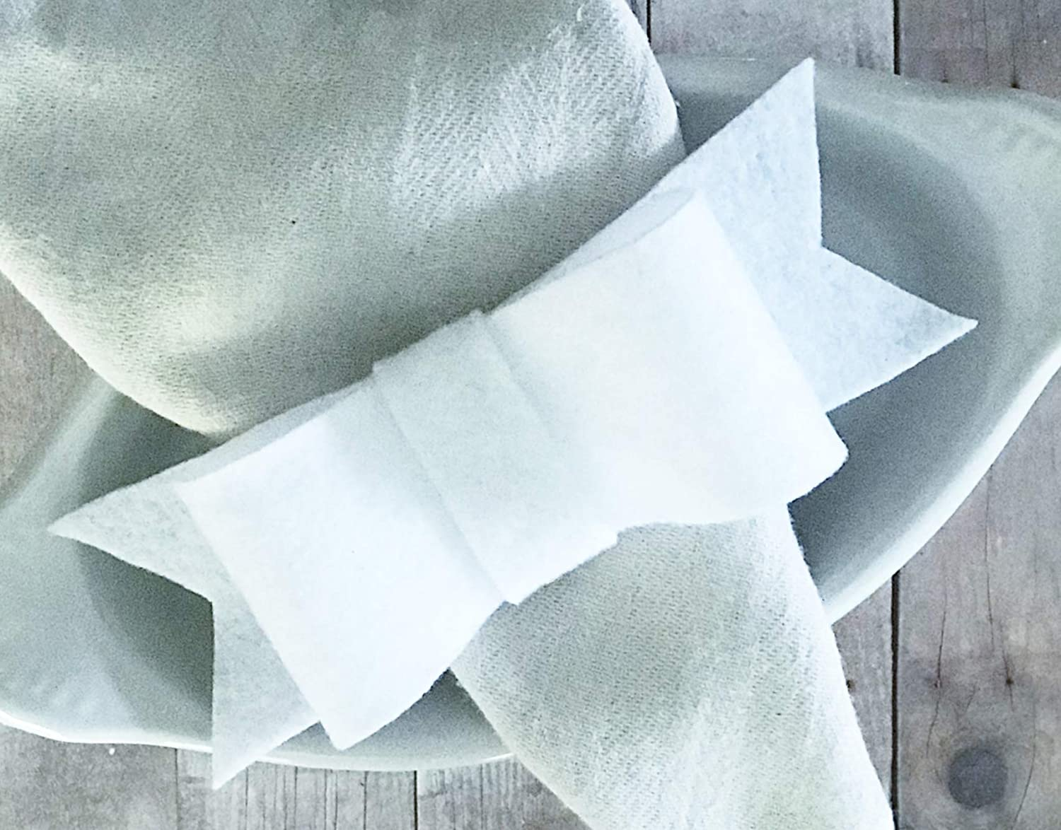 White Felt Bow Napkin Rings Safety and trust Ranking TOP15 Rustic D Dinner Table Setting Formal