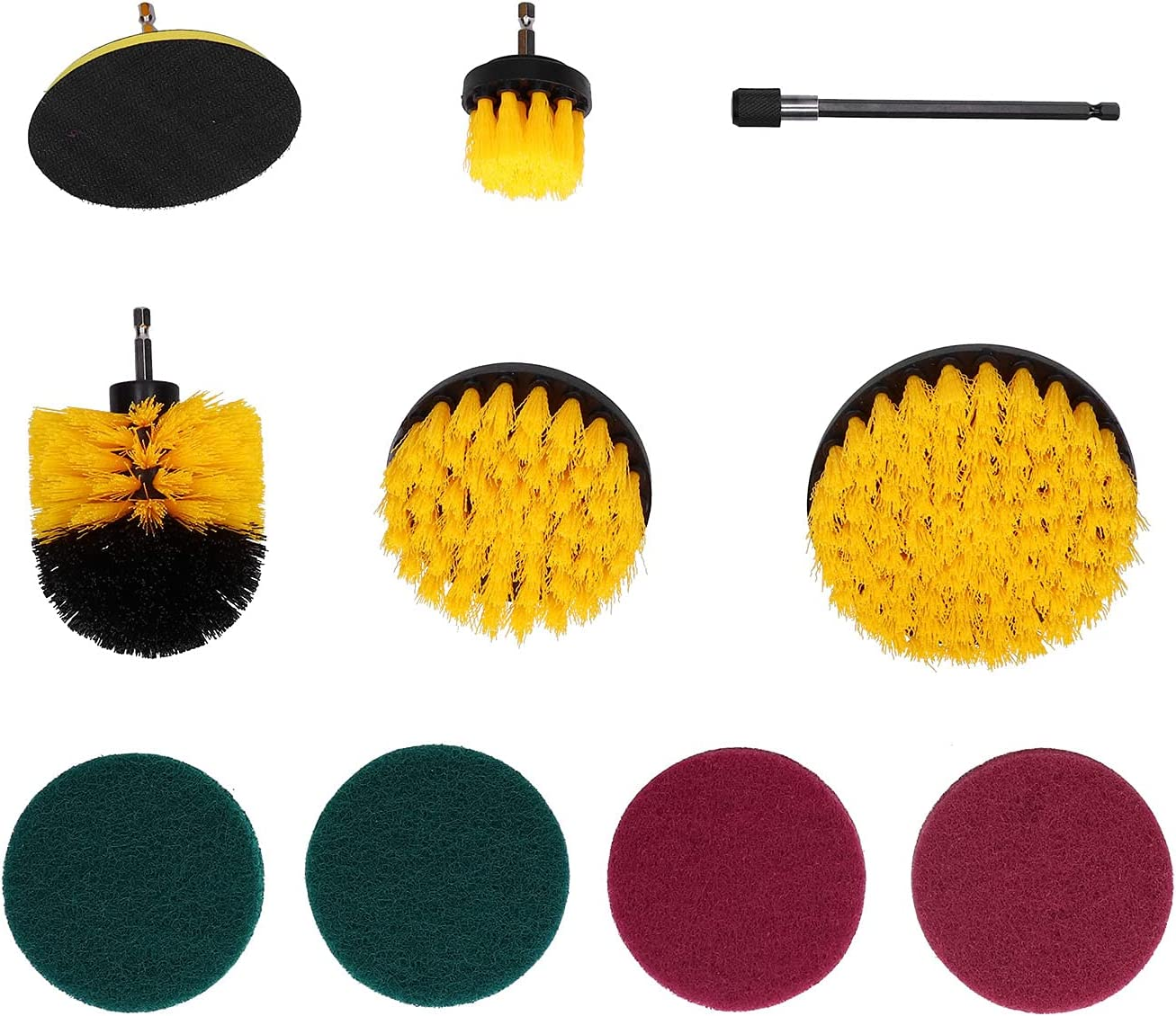Power Scrubber Strong Drill Brush Cheap Kit Carpet 10 price Mat PCS for