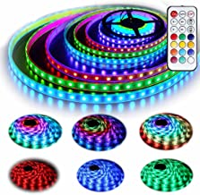 12V RGB LED Strip Lights Kit, Geekeep Addressable Dream Color LED Lighting with Chasing Effect,Waterproof Neonpixel Led Flexible Tape Light with RF Remote Controller (5M/16.4ft) …