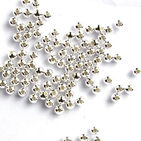 SS5504 Wholesale Price, 50 Pcs 4 mm Sterling Silver Seamless Round Beads