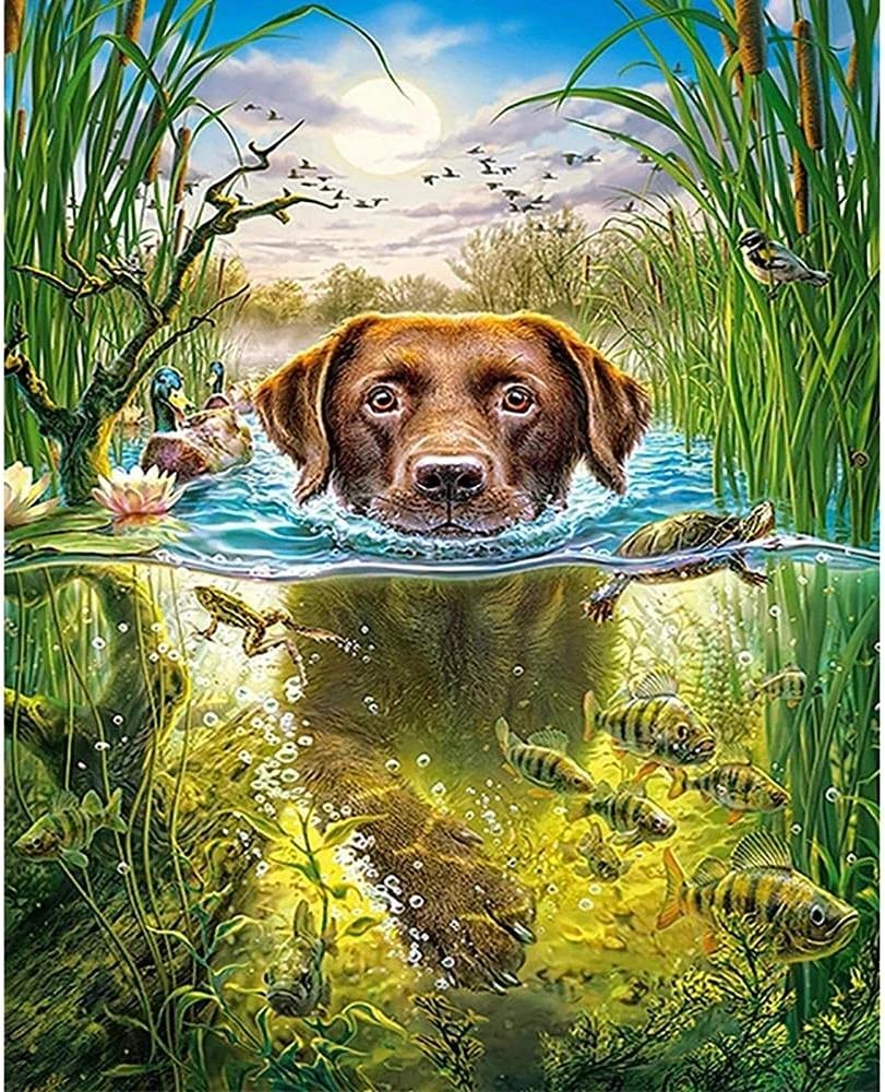 3000 Piece Jigsaw Albuquerque Max 83% OFF Mall Puzzle Pu dog-3000 Swimming Puzzles