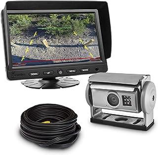 Carmedien Shutter Kamera Video Rückfahrsystem cm SKRFS2 12V ~ 24V Rückfahrkamera Set für Wohnmobil LKW