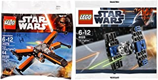 Lego Star Wars Tie Fighter & Poe's X- Wing Fighter Starship Attack set - Polybag 30278 + 8028 edition Building Set