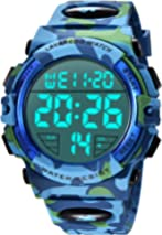 Mens Digital Watch - Sports Military Watches 50M Waterproof Outdoor Chronograph Military Wrist Watches for Men with LED Back Ligh/Alarm/Date/Shockproof