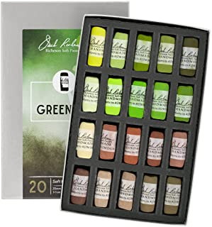 Jack Richeson 20 Piece Landscape Greenery 1 Hand Rolled Soft Pastel Set