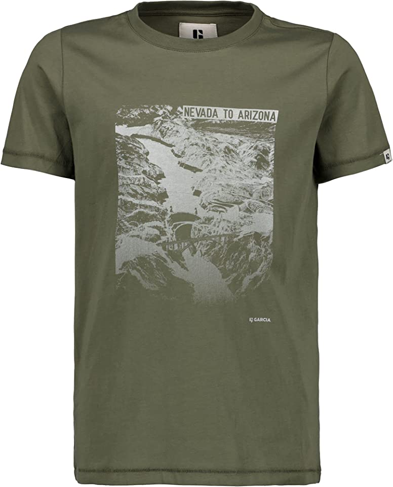 Jungen Shirt Nevada to Arizona,Beetle (olivgrün) B13601 regulär fit gr.176