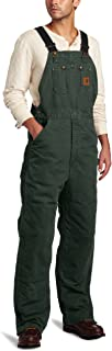Men's Quilt Lined Sandstone Bib Overall R27
