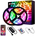 Solmore 32.8 feet RGB Color Changing Smart LED Strip Lights with Remote