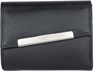 Portefeuille noir Kabana de taille moyenne pour femme, en cuir véritable