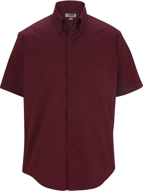 P & J Big and Tall Big and Tall Shirt Sleeved Twill Shirts LT-6XT Tall Wine