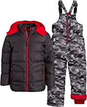 Wippette Little Boys' 2-Piece Heavyweight Snowsuit with Puffer Jacket and Snow Bib Pants (Infants, Toddler & Little Boys)