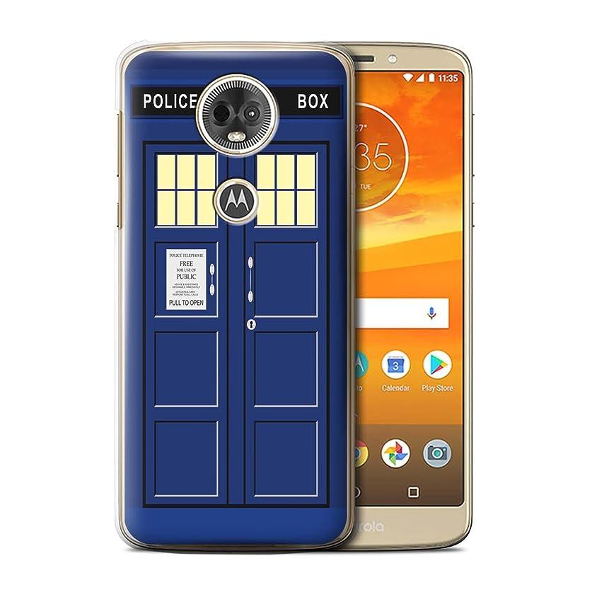STUFF4 Phone Case/Cover for Motorola Moto E5 Plus 2018/Blue Design/Tardis Phone Box Art Collection jvjjnwxfaw02448