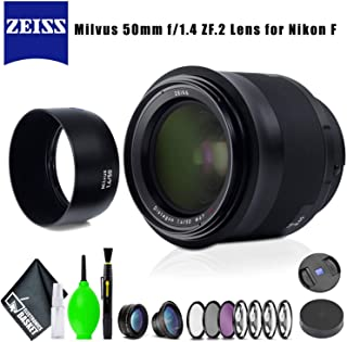 ZEISS Milvus 50mm f/1.4 ZF.2 Lens for Nikon F with Filter Kit and Cleaning Kit