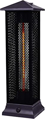 Star Patio Electric Patio Heater, Freestanding Outdoor Heater, 1500W Infrared Heater with Matte Black Finished, Tip-Over Protection, IP55 Outdoor Heaters, STP1299-RMHD-M New
