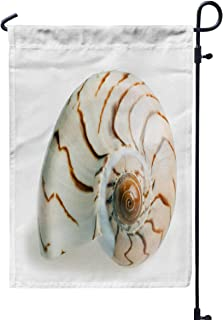 Shorping Holiday Flags for Outside, 12x18Inch Welcome Garden Flag Seashell Isolated Over White Background for Holiday and Seasonal Double-Sided Printing Yards Flags