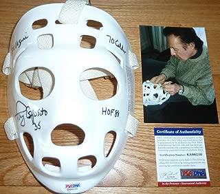 PSA/DNA Tony Esposito 3 Inscriptions Autographed Signed Memorabilia -Autographed Signed Memorabilia Replica Goalie Mask 6210