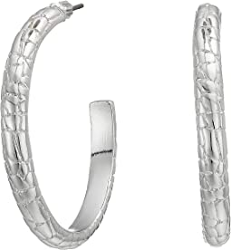 Croc Pattern Large Hoop Earrings
