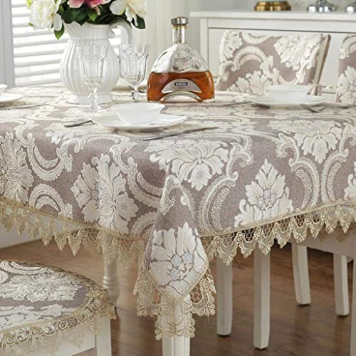 solo cómpralo WENYAO WENYAO WENYAO Tabcloth,Lace Tea tabcloth,Covering Cloth Jacquard Piano Cover Cloth Vintage Square Tablecloth marrón 120x150cm(47x59inch)  minoristas en línea