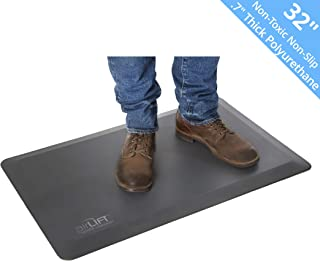 "Seville Classics AIRLIFT 32"" Anti-Fatigue Standing Desk Comfort Mat - Antimicrobial Waterproof Non-Toxic Polyurethane, 32"" x 20"" x .7"" Thick"
