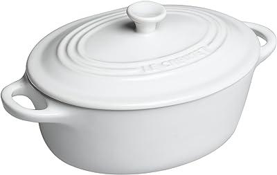 Le Creuset Stoneware Mini Oval Cocotte, 12 oz., White