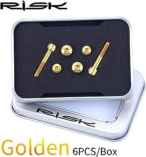 チタン合金 スクリューキット GX/Eagle / X9 / X01 / X01Eagle / XX1用, (Color : Gold)