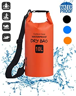 JJ POWER Dry Bag Waterproof Backpack for Women Men, 10L Compression Floating Sack with Adjustable Shoulder Strap Keep Gear Dry for Fishing, Camping, Swimming, Kayaking and Other Outdoor Activities