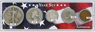 1938 Coin Year Set in Custom Case with American Flag Good Condition