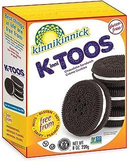 Kinnikinnick KinniTOOS Gluten Free Chocolate Sandwich Cream Cookies - Case of 6 - 8oz/220g pkgs