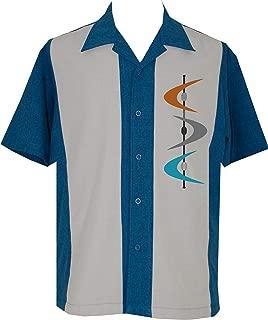 Mens Camp Shirt, Vintage Cuban Style Bowling Shirt Mid-Century ~ Guayabera Dress Shirt Style