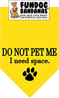 do not pet dog bandana