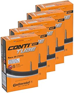 Continental Bicycle Tubes Race 28 700x20-25 S42 Presta Valve 42mm Bike Tube - Value Bundle 5-in-1 Bicycle Tube 700c