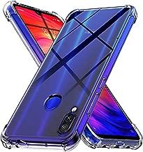 Ferilinso Cover per Xiaomi Redmi Note 7/ Note 7S/ Note 7 PRO Cover, [Rinforzare la Versione con Quattro Angoli] Custodia Protettiva in Silicone Morbido Antiurto in Gomma TPU (Trasparente)