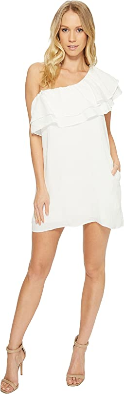 American Rose - Madison One Shoulder Ruffle Dress