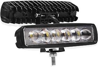 Winbang LED Auto Arbeitslichtleiste, 18 W Spot Fahrlicht Nebelscheinwerfer Einreihig Off Road LED Lichter Bootslichter Wasserdichter SUV 4X4 ATV 4WD Arbeitslastwagenlampe 10 30 V (16 Zoll)