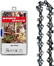 WONDER MASTER 1Pack 8 Inch Chainsaw Chain with 34 Drive Links Count 3/8 Inch Pitch Semi Chisel .043 Inch Gauge fit for Poulan Remington Husqvarna Poulan Homelite Ryobi Worx Oregon Chainsaw