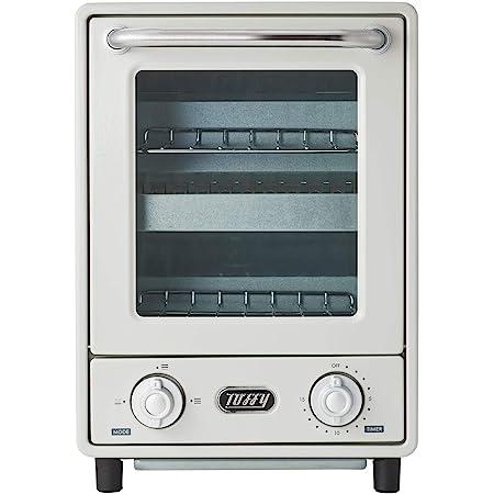【Toffy/トフィー】 オーブントースター K-TS4(アッシュホワイト) 縦型トースター 2段トースター 新型 スリム レトロ K-TS4-AW